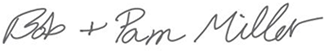 Bob and Pam's Signature